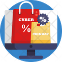 Cyber Monday Shopping Bags Shopping Icon