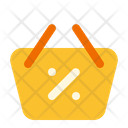 Black Friday Shopping Basket Bag Icon