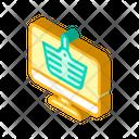 Internet Shopping Isometric Icon