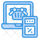 Shopping Basket Laptop Shopping Icon