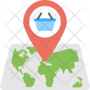Shopping Basket Map Icon