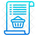 Shopping Bill Busket Icon