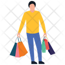 Shopping Boy Leisure Time Buying Icon