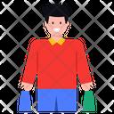 Shopping Purchase Shopping Boy Icon