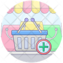 Shopping Bucket Add To Basket Add Product Icon