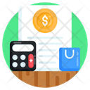 Accounting Shopping Calculation Shopping Invoice Icon