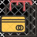 Online Store Shopping Bag Debit Card Icon