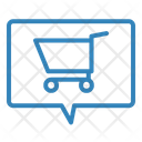 Shopping Card Message Icon