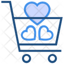 Heart Valentines Day Cart Icon