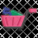 Shopping Cart Shopping Trolley Shopping Wheelbarrow Icon