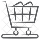 Shopping Cart Handcart Luggage Cart Icon