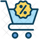Shopping Cart Shopping Trolley Discount Icon