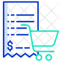 Shopping Cart Bill Icon