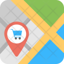 Shopping Cart Map Pointer Icon