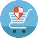 Shopping cart shield Icon