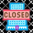 Shopping Center Closing Icon