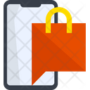 Shopping Chat Message Communication Icon