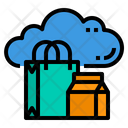 Shopping Business Marketting Cloud Icon