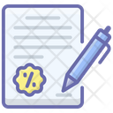 Shopping Contract Icon