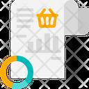 Shopping Data Analysis Data Shopping Analysis Report Icon