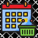 Shopping Date Basket Shopping Icon