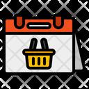 Shopping Date Calendar Shopping Icon