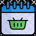 Shopping Day Calendar Shopping Icon