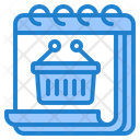 Shopping Day Basket Day Icon