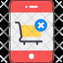 Shopping Denied Cancel Order Order Denied Icon
