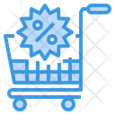 Discount Cart Shopping Icon