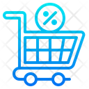 Cart Shopping Label Icon