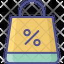 Discount Percentage Shopper Bag Icon