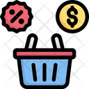Shopping Discount Basket Discount Icon