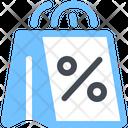 Discount Shopping Bag Icon