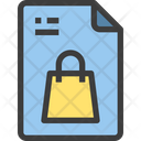 Bag Shopping File Invoice Icon