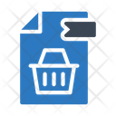 Shopping File Icon