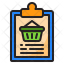 File Clipboard Busket Icon