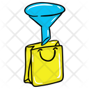 Shopping Funnel Sales Funnel Data Filtration Icon
