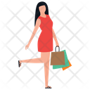 Shopping Girl Leisure Time Buying Icon