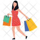 Shopping Girl Icon