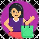 Shopping Shopping Girl Shopping Bag Icon