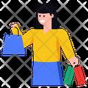 Shopping Purchase Shopping Girl Icon