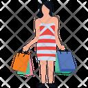 Shopping Girl Icon