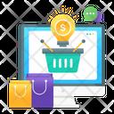 Shopping Idea Creative Shopping Online Shopping Icon