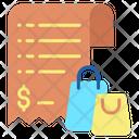 Shopping Invoice Icon