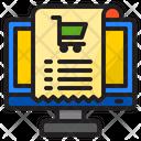 Shopping Invoice Receipt Bill Icon