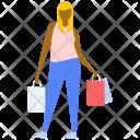 Shopping Girl Bag Icon