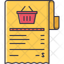Shopping List Cashbox Icon