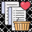 Cart Shopping Receipt Icon