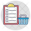Shopping List Wish Icon